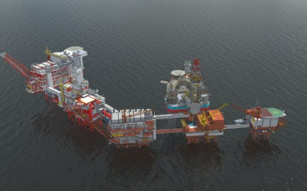 Maersk Reacher intake on Valhall